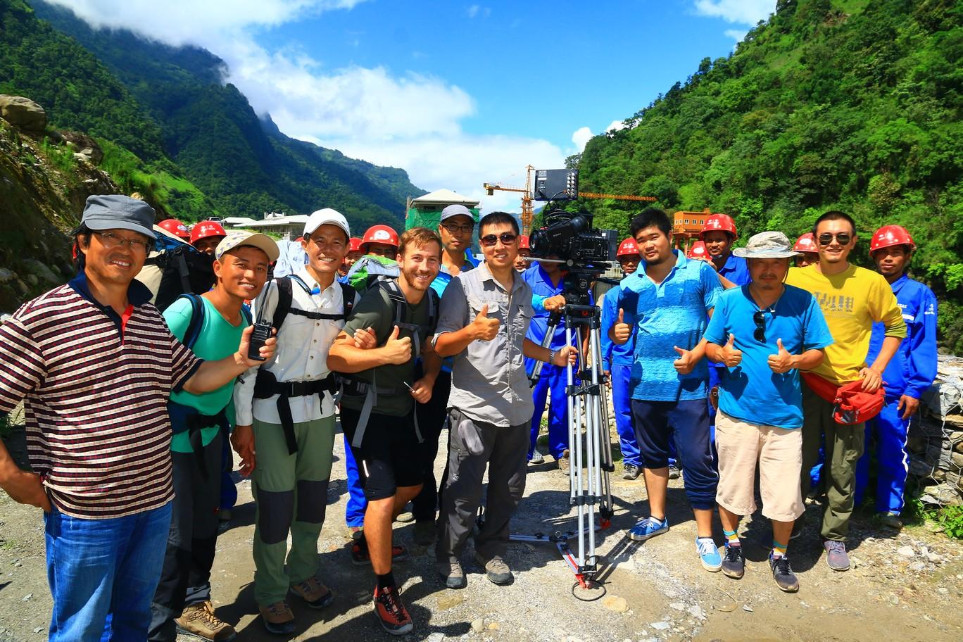 Wir werden gefilmt für chinesische Dokumentation